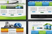 4款国外精美网页设计模板矢量素材