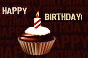 生日蛋糕甜点矢量素材