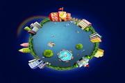 创意地球PSD卡通设计素材