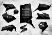 现代的黑色标签矢量创意
