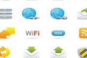 精致卡通图标文件夹箭头放大镜信封RSS订阅循环矢量素材