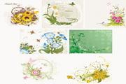 7款各种花朵矢量素材