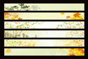 6款植物图案banner矢量图