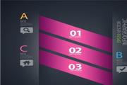 粉色创意图表设计矢量素材