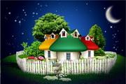 卡通童话家园PSD素材