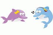 2款海豚动物矢量图