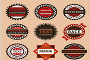 出租车标签设计模板矢量
