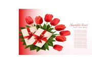 郁金香花卉卡片矢量设计