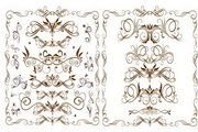 欧式时尚花纹花边矢量素材