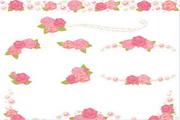 粉色花卉装饰花卉矢量素材