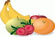 香蕉草莓苹果矢量图