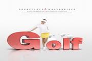 GOLF创意海报设计源文件