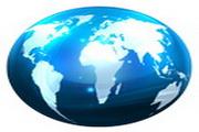 蓝色世界地球图标下载