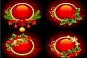 圣诞节装饰物品矢量图