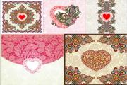 情人节传统花纹图案矢量素材