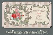 复古旧纸质卡片矢量素材