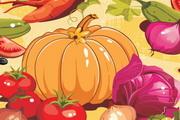卡通蔬菜南瓜西红柿洋葱卷心菜胡萝卜矢量素材
