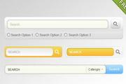 四款搜索框网页元素样式psd分层素材