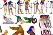 埃及法老动物图案纹理样式矢量素材