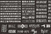 兰龙创意标志中文字体设计合集cdr素材