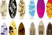 滑浪板矢量素材 古典花纹图案