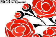 玫瑰花素材 矢量图