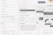 网页UI界面设计矢量图标素材