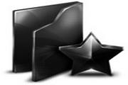 黑色文件桌面图标下载