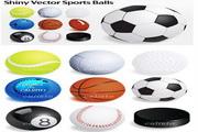 矢量体育球类设计图