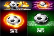 矢量2012足球赛宣传海报素材