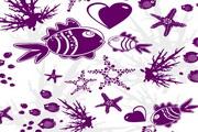 海底世界主题壁纸矢量素材