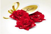 矢量写实玫瑰花图