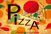 披萨菜单矢量复古设计