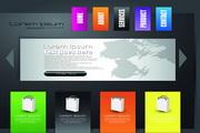 创意网页模板矢量设计