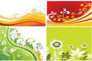 矢量植物鲜花背景素材