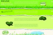绿色创意横幅设计矢量模板