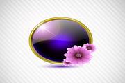 紫色讲话泡泡矢量创意设计