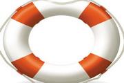 航海救生圈图标矢量素材
