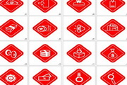 漂亮红色禁用图标矢量素材