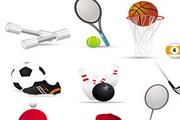 篮球网球乒乓球足球棒球高尔夫球桌球橄榄球图标