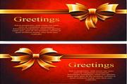 礼品卡片设计矢量模板