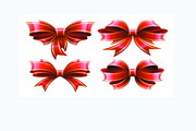 彩带蝴蝶结矢量设计素材