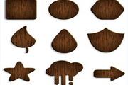 木纹指示牌矢量模板素材