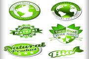 生态标签矢量模板设计素材