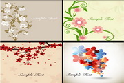 精美花卉卡片矢量素材
