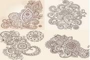 欧式古典花纹矢量素材2
