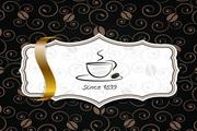 咖啡主题创意菜单矢量模板