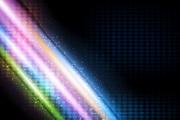炫彩光束背景矢量图