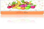 水果主题名片矢量模板