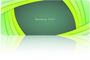 绿色商务名片设计矢量素材